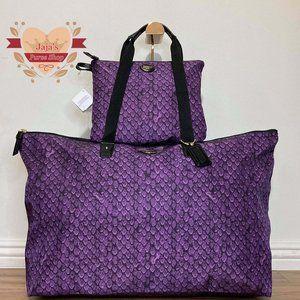 💜Coach Signature Nylon Bag & Snap Pouch💜